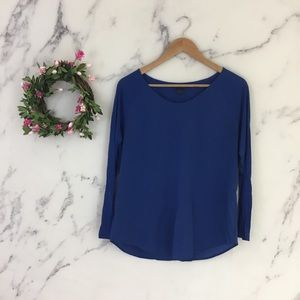 French Connection Polly Plains Long Sleeve Blouse